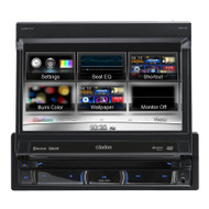CLARION NZ502A 7 INCH FLIP SCREEN CD/DVD RECEIVER W/ BLUETOOTH & NAVIGATION