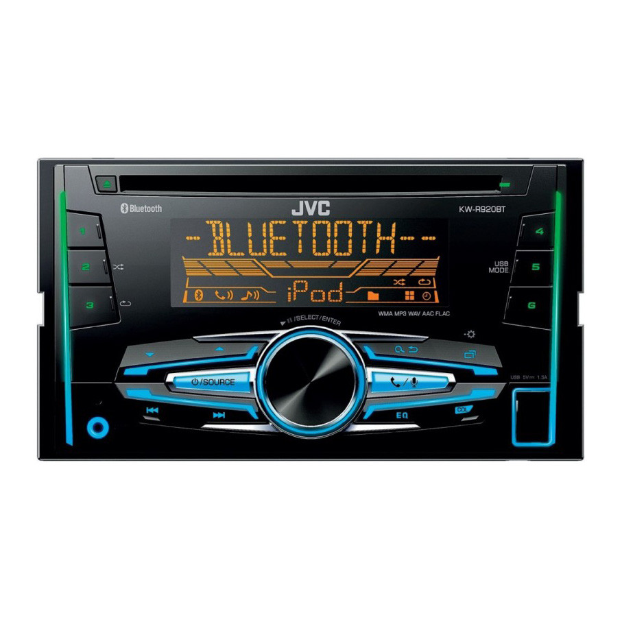 jvc kw r920bt cd mp3 head unit w bluetooth usb android. Black Bedroom Furniture Sets. Home Design Ideas