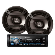 "PIONEER MXT-X376BT DIGITAL MEDIA PLAYER PACK W/ 200W 2-WAY 6"" SPEAKERS"
