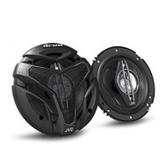 "JVC CS-ZX640 drvn Series 6.5"" 350W 4-Way Coaxial Car Speakers"
