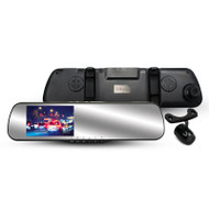 Parkmate MCPK-43DVR Rear View Mirror Monitor with Built-In Dash Cam & Reverse Camera Pack