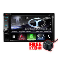 "KENWOOD DNX5170S 6.2"" NAVIGATION MULTIMEDIA HEAD UNIT W/ APPLE CARPLAY FREE CMOS-130 REVERSE CAM"