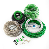 HYPER CONNECTIONS 8GA 2-CH AMP WIRING KIT GREEN