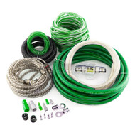 HYPER CONNECTIONS 4 GAUGE 2-CHANNEL AMPLIFIER WIRING INSTALLATION KIT GREEN