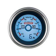 REDARC G52-VVA 52MM Dual Voltage Gauge with Optional Current Display