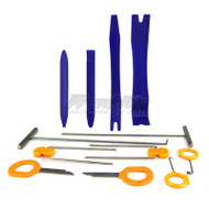 INTERIOR TRIM REMOVAL TOOL KIT 12 PIECE FOR REMOVING PLASTIC TRIMS, DOOR TRIMS, STEREO HEAD UNITS AND DASH FASCIAS ETC