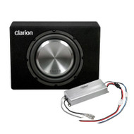 "CLARION UB2521XC 10"" ULTRA COMPACT UTE SUB & AMP PACK 1000W"