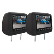 "OPTION AUDIO OA92HRDVDVB 9"" HEADREST DVD PLAYERS WITH USB AND HEADPHONES - BLACK"