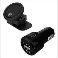 E2 MAGNETIC DASH MOUNT & DUAL USB FAST CAR CHARGER E2C242DM