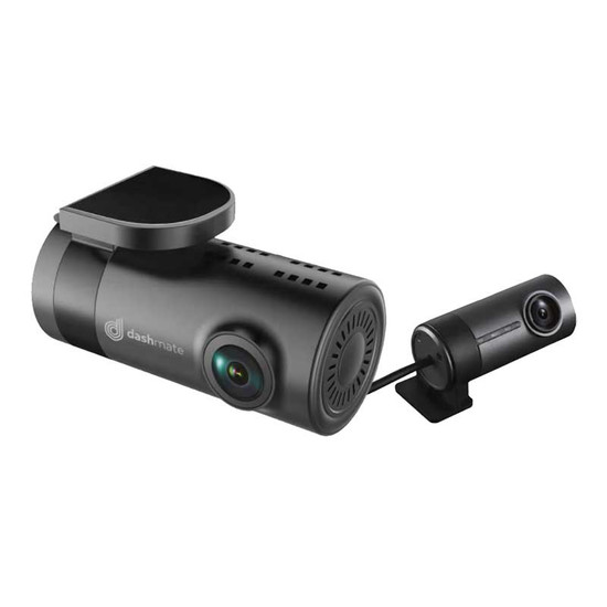 DASHMATE DSH-882 HD 2-CHANNEL FRONT & REAR DASH CAM WITH GPS & WI-FI