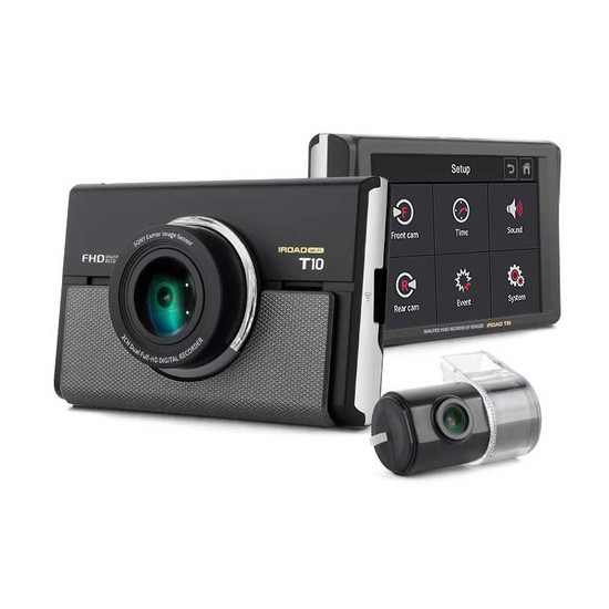 """iRoad T10 GPS WiFi 2 Channel Full HD Dash Cam with 3.5"""" LCD Display and ADAS"""