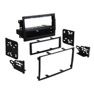 AERPRO FP996510 FACIA KIT SUIT JEEP CHEROKEE/COMPASS/COMMANDER 2005-09 BLACK SINGLE-DIN & 2-DIN