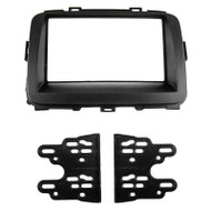 AERPRO FP9107 FACIA KIT SUIT KIA RONDO 2013-ON BLACK 2-DIN