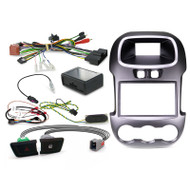 """Aerpro FP8083KT Double DIN Textured Metallic Charcoal Install Kit to Suit Ford Ranger PX with 4.2"""" OEM Display"""