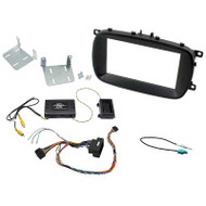 AERPRO FP8125K STEREO INSTALL KIT SUIT FIAT 500X 2014-ON BLACK 2-DIN