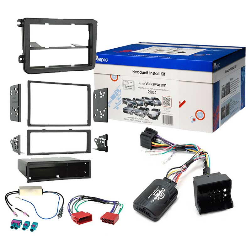 aerpro fp9011k stereo install kit suit volkswagen/skoda black single-din &  2-
