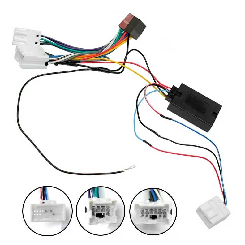 AERPRO SWC HARNESS + ISO PATCH LEAD FOR NISSAN DUALIS MICRA ... on