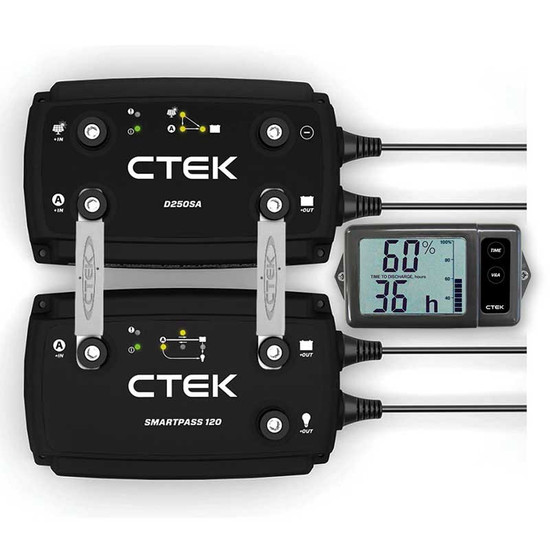 CTEK OFF ROAD 12 VOLT 120A BATTERY CHARGING SYSTEM W/ MONITOR