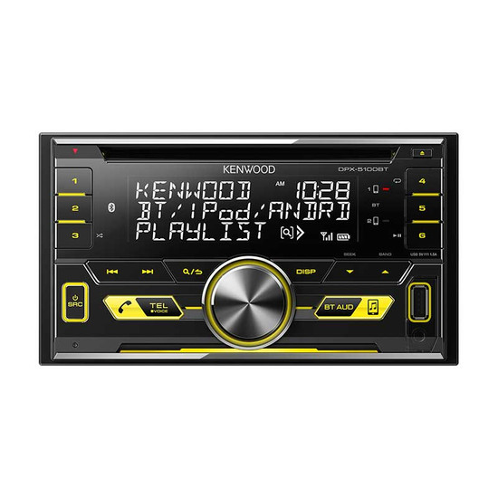 KENWOOD DPX-5100BT BLUETOOTH 2-DIN HEAD UNIT WITH SPOTIFY CONTROL & STEERING WHEEL CONTROL INTERFACE