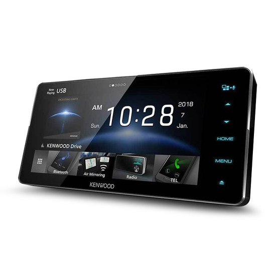 """Kenwood DDX918WS 200mm 6.8"""" Wide Panel AV Receiver with Apple Carplay/Android Auto & Air Mirroring"""