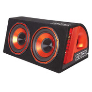 "Edge EDB12TA-E2 Dual 12"" 1800 Watts Active Subwoofer Enclosure With Built-In Amplifier"
