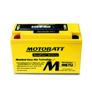 Motobatt MB7U 12V 6.5Ah 100CCA AGM Motorcycle Battery with Quadflex Technology