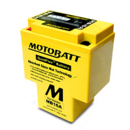 Motobatt MB16A 12V 17.5Ah 200CCA AGM Motorcycle Battery with Quadflex Technology