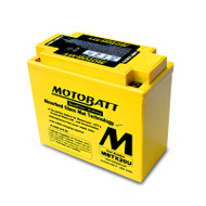 Motobatt MBTX20U 12V 21Ah 310CCA AGM Motorcycle Battery with Quadflex Technology