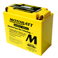 Motobatt MB18U 12V 22.5Ah 280CCA AGM Motorcycle Battery with Quadflex Technology