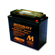 Motobatt MBTX20UHD 12V 21Ah 310CCA AGM Motorcycle Battery with Quadflex Technology