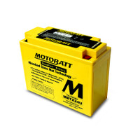 Motobatt MBTX24U 12V 25Ah 300CCA AGM Motorcycle Battery with Quadflex Technology