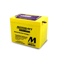 Motobatt MBHD12H 12V 33Ah 390CCA AGM Motorcycle Battery with Quadflex Technology