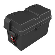 "NOCO HM318BKS HEAVY DUTY SNAP-TOP BATTERY BOX WITH ADJUSTABLE INSERT 10-14"" 86B"