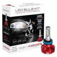 W SPEAKER 3600 DRIVERLESS LED H11/9/8/16 HEADLIGHT BULB CONVERSION KIT 6200K