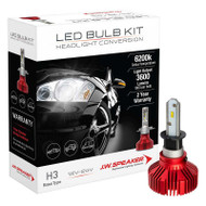 JW SPEAKER 3600 DRIVERLESS LED H3 HEADLIGHT BULB CONVERSION KIT 6200K