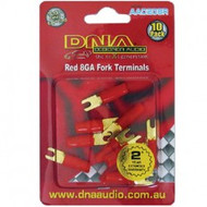 DNA AAC208R 8 Gauge Fork Terminals - 10 Pack