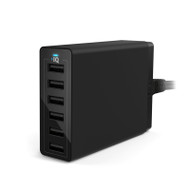 ANKER POWERPORT WALL CHARGER - 6 PORT (BLACK) (A2123T11)