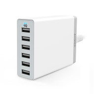 ANKER POWERPORT WALL CHARGER - 6 PORT (WHITE) (A2123T21)