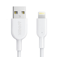 Anker A8121H21 PowerLine+ Lightning 0.9m iPhone/iPad Fast Charging Cable with Pouch - White