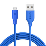 ANKER POWERLINE MICRO USB (3M) CABLE - BLUE (A8134H31)