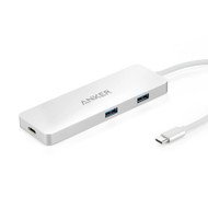 Anker A8342H41 Premium USB-C Hub with HDMI and Power Delivery - Silver