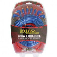 DNA AAK104 600watt 8 Gauge 4 Channel Amplifier Wiring Kit