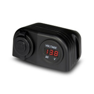 Aerpro APDCH68 DC Dual USB Car Charger and DC Voltmeter Housing Mount