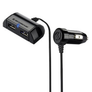 Scosche USBC242EXT Power HUB Mountable 2-Port USB Car Charger - Black