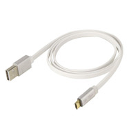 Scosche EZFLWT Reversible Micro Charge and Sync Cable with LED - 3FT (White)