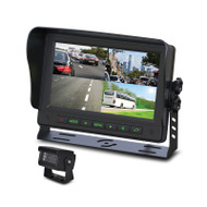 "Gator GT704HD 7"" AHD Commercial Grade Dash Mount Quad Display Reverse Camera Kit"
