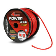Rockford Fosgate RFW4R 100 Foot Spool 4 AWG Frosted Red Wire