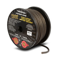 Rockford Fosgate RFW4B 100 Foot Spool 4 AWG Frosted Black Wire