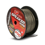 Rockford Fosgate RFW12-250 12 AWG Speaker Wire 250 Foot Spool Frosted Black/Silver