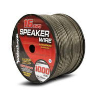 Rockford Fosgate RFW16-1000 16 AWG Speaker Wire 1000 Foot Spool Black/Silver